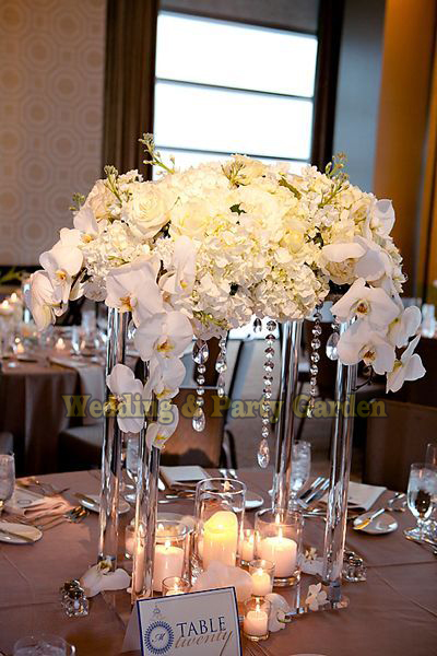 Hot 40cm Tall Flower Stand Wedding Crystal Table Centerpiece Square Table center piece Wedding Decoration