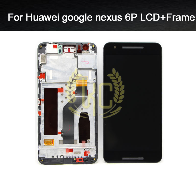 imágenes para Para Huawei Google Nexus 6 P Pantalla LCD con Pantalla Táctil Digitalizador Asamblea Frame piezas de Repuesto de Color Negro Envío Gratis