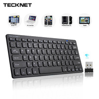 TeckNet 2 4Ghz Mini Wireless Keyboard For Windows Android Smart TV UK Keyboard Layout Quiet Keyboard
