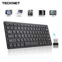 TeckNet 2 4Ghz Mini Wireless Keyboard For Windows Android Smart TV UK Keyboard Layout Quiet Keyboard