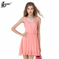 Hot Sale Dot Backless Braces Skirt Fashion Harajuku Casual Cute Charming Kawaii Pink Dress Sexy Easiness