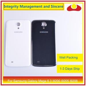 Image 1 - 10 шт./лот для Samsung Galaxy Mega 6,3 i9200 i9205 i9208 GT I9200 корпус Батарейная дверь задняя крышка корпус