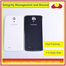 10 sztuk/partia dla Samsung Galaxy Mega 6.3 i9200 i9205 i9208 GT I9200 obudowa klapki baterii tylna część obudowy obudowa powłoki