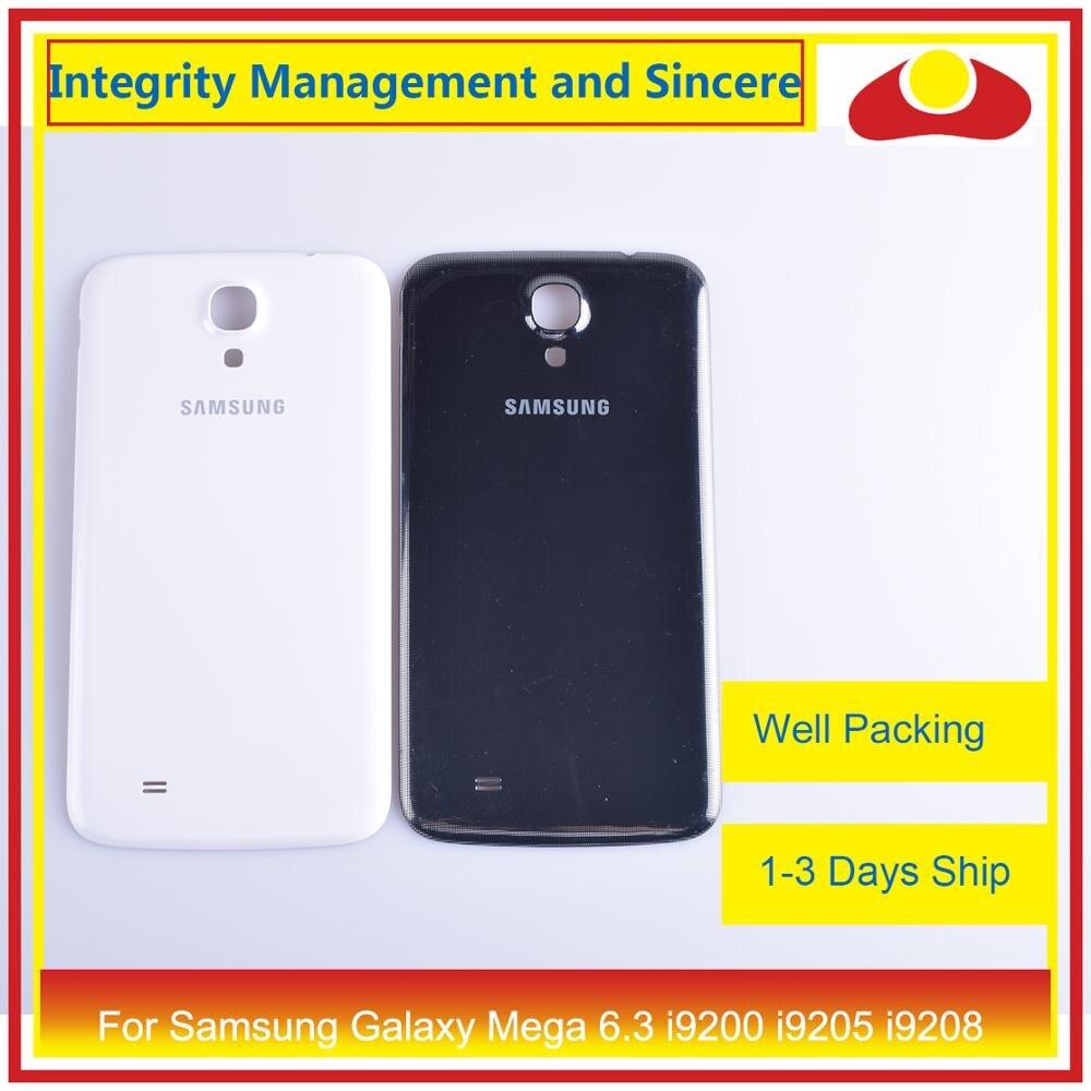 Для samsung Galaxy Mega 6,3 i9200 i9205 i9208 GT I9200 корпус батарея Дверь задняя крышка корпус замена корпуса-in Корпуса и рамки для мобильных телефонов from Мобильные телефоны и телекоммуникации