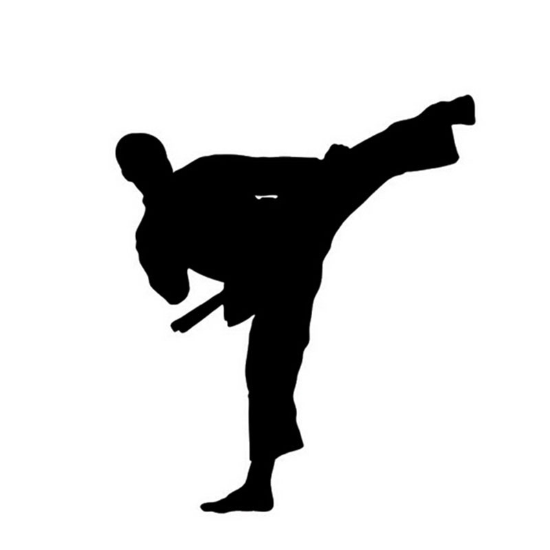 12*14CM Kung Fu Taekwondo Car Sticker Decal The Window Decoration Karate Car Stickers And Decals C2-0060