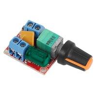 Motor DC de Control de velocidad Placa de controlador, 3 V-35 V 5A controlador PWM continua DC 3V 6V 12V 24V 35V regulador de voltaje Variable Dimmer G