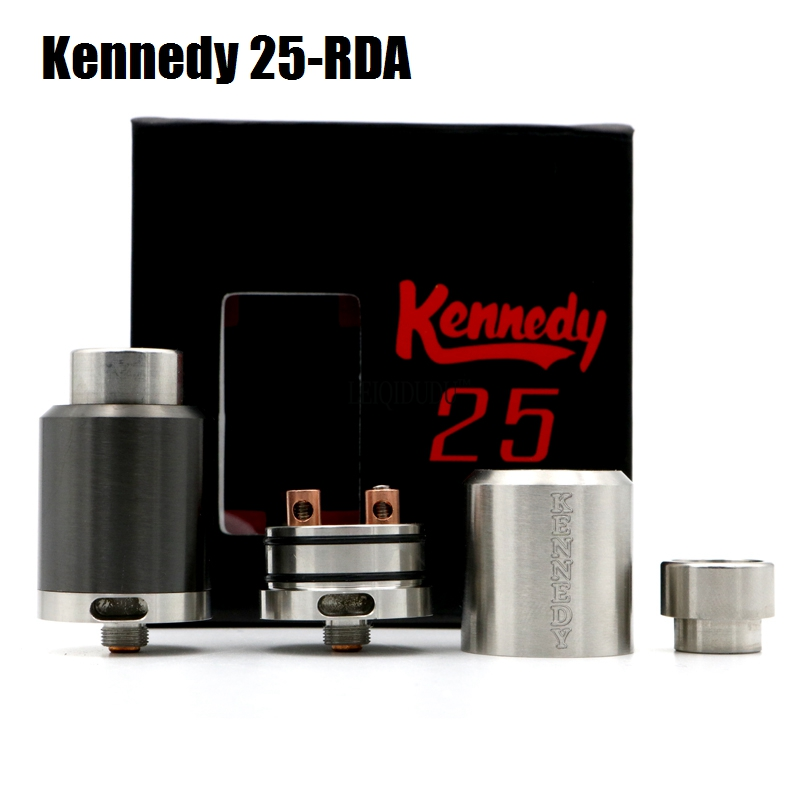Newest Kennedy 25 RDA Clone Rebuildable Atomizer 25mm Diameter wide drip tip rda vs Kennedy 22