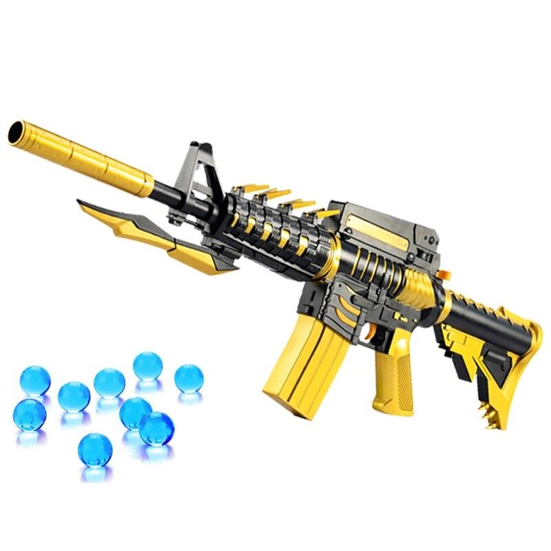 M4 Airsoft pistolets à Air comprimé jeu pistolet à Air doux balle d'eau éclate pistolet en direct CS assaut Snipe arme en plein Air jouets