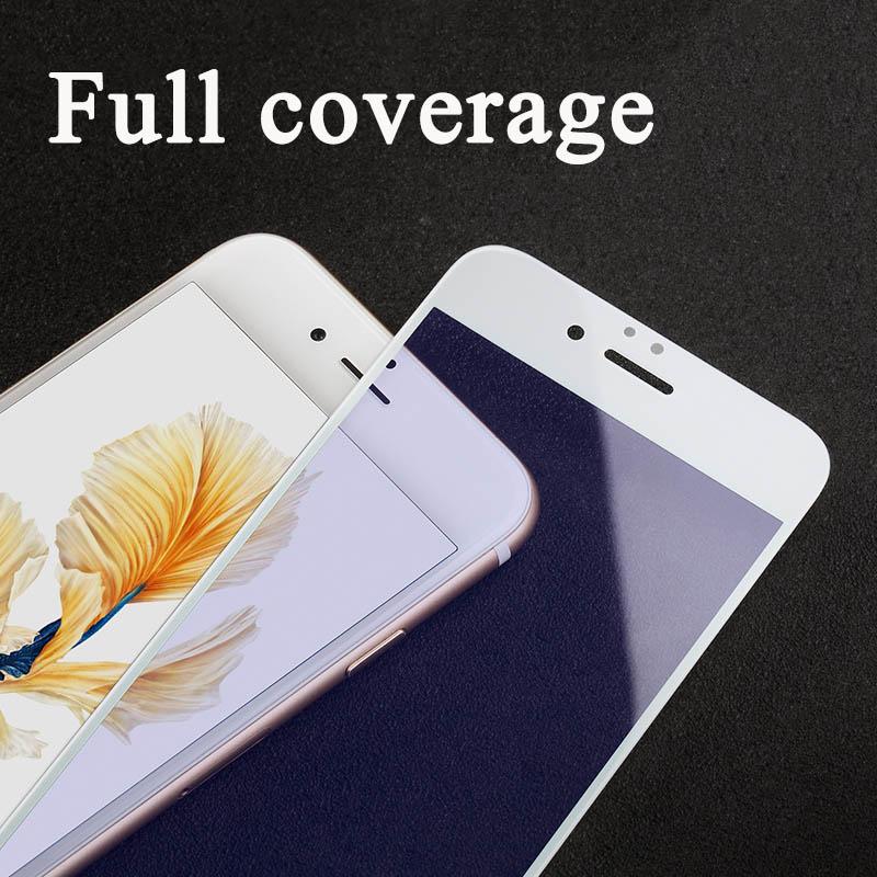 3D-GLASS För iPhone 7 6 6s Plus Skärmskydd Rund böjd kant Premium - Reservdelar och tillbehör för mobiltelefoner - Foto 2