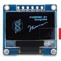 "Frete Grátis 1 pc Branco 6pin 128X64 OLED LCD Módulo Display LED 0.96 ""I2C CII SPI Se Comunicar"