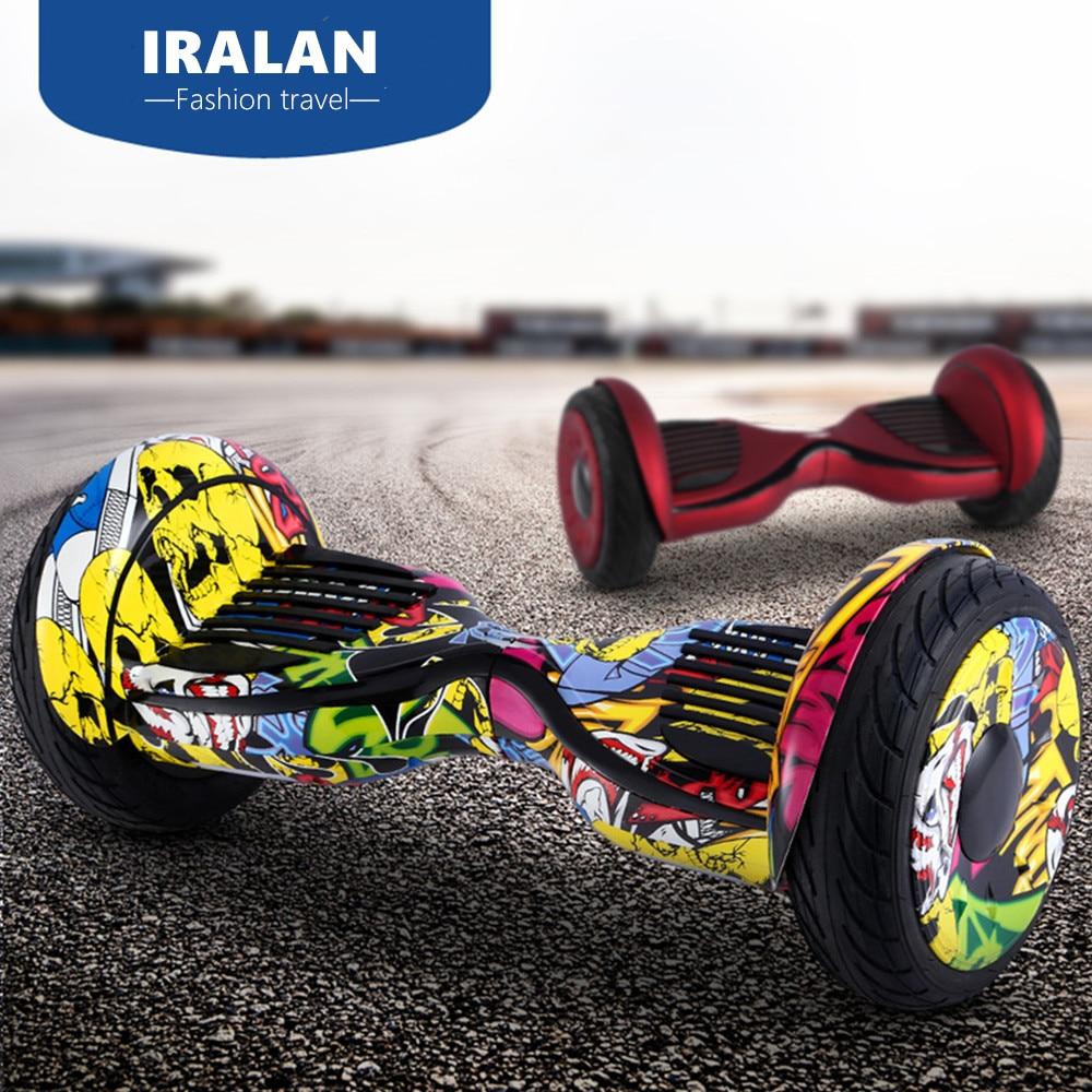 Цена за IRALAN 10 дюймов Электрический самостоятельная балансировка мопедов hoverboard sakeboard взрослых электрический скутер giroskuter наведите совета за борт
