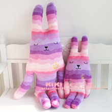 CRAFTaccent Colorful imperial crown rabbits M size household pillow font b Stuffed b font font b