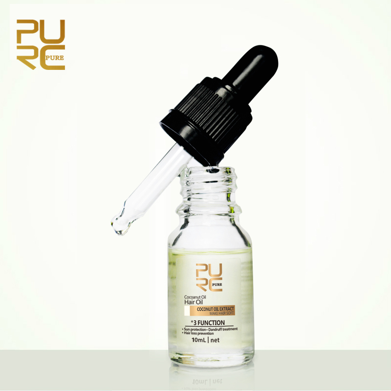 PURC New Arrivals Natural Cold Pressed Virgin Coconut Oil Skin Care Hair  Care Make Hair Soft Sun Protection TSLM1