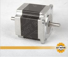 ACT DUAL SHAFT nema 23 stepper motor 1.26n.m(178oz-in) 56MM / 2A Direct selling
