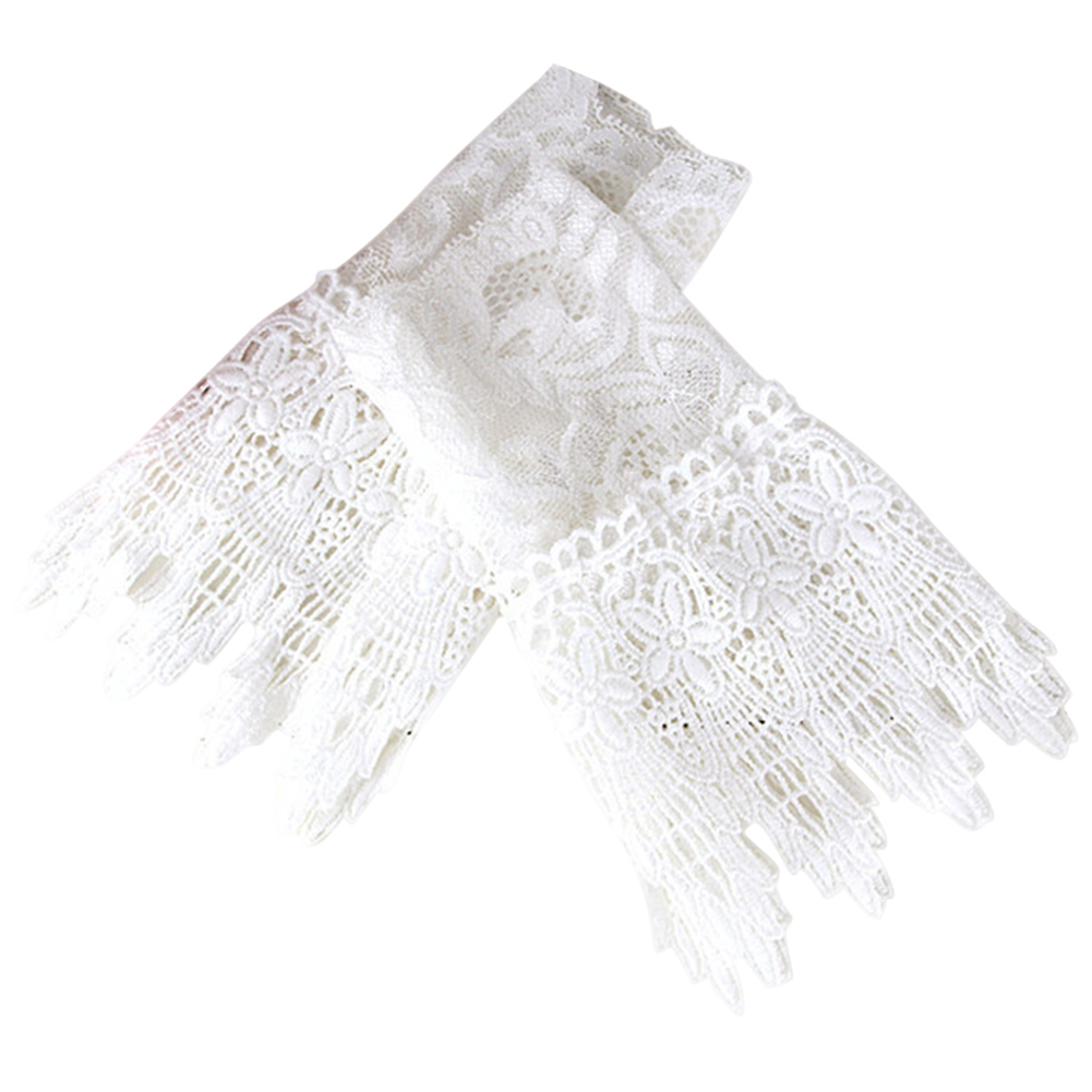 1 Pair Lace Wrist Sleeves Hollow Fake Cuff Elegant Gloves Accessories For Women Lady NFE99