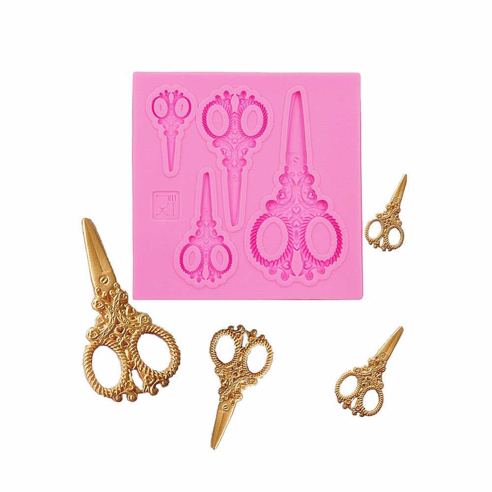 Gadgets Fondant Mold Scissors Clay Resin Polymer Clay Wax Flexible Moulds  Fondant Gum Paste Chocolate Craft Mold For Resin