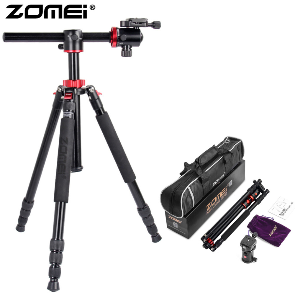 ZoMei M8 Tripod 75 Inchs Camera Stand Professional Horizontal Tripod With Ball Head For Canon DSLR DV Scope Camcorder Projector