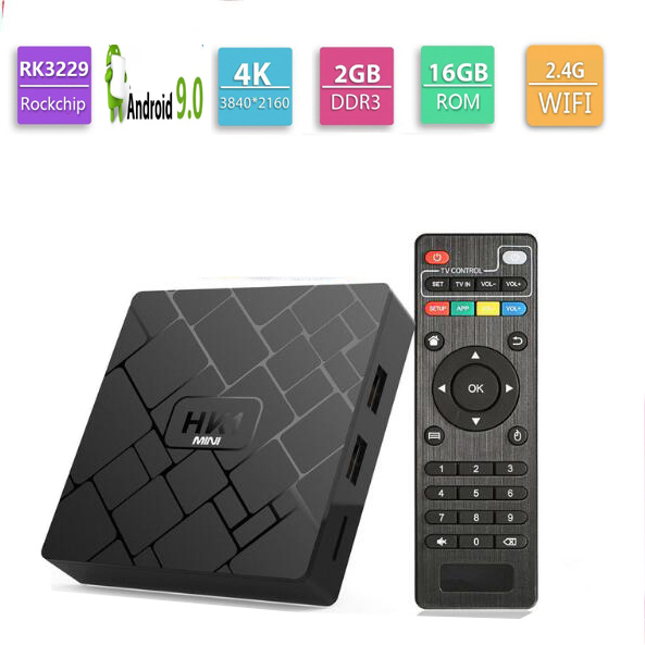 10pcs HK1 MINI Android 9.0 TV BOX Rockchip RK3229 Quad core 2GB Ram 16G Rom H.265 4K TV Sep Top Box(Canada)