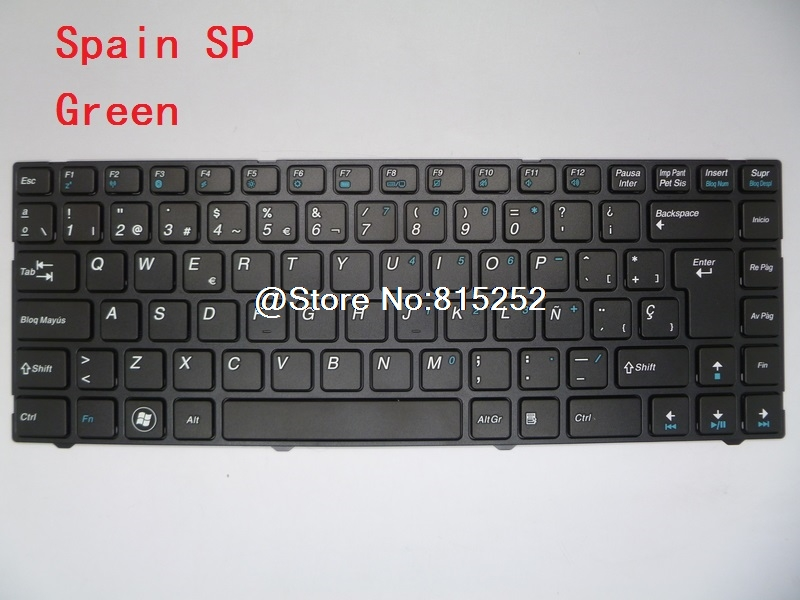 Laptop Keyboard For AORUS B14Y MP-11P56PA-5283 0KN0-A02BR2212 Brazil BR MP-1156E0-5285 0KN0-A01SP3212 Spain SP MP-11P53U4-5281W for sony vpceh35yc b vpceh35yc p vpceh35yc w laptop keyboard