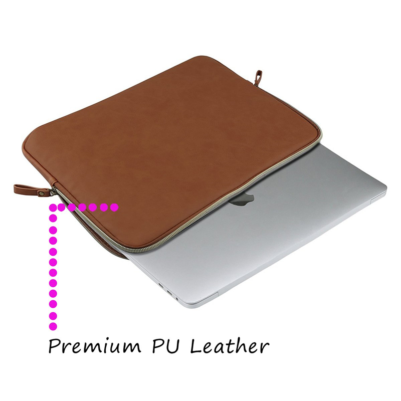 Image 2 - MOSISO PU Leather Laptop Sleeve for MacBook Air 13 inch Water resistant Notebook Case for MacBook Pro 13 Retina 13 Laptop Bag Ca-in Laptop Bags & Cases from Computer & Office