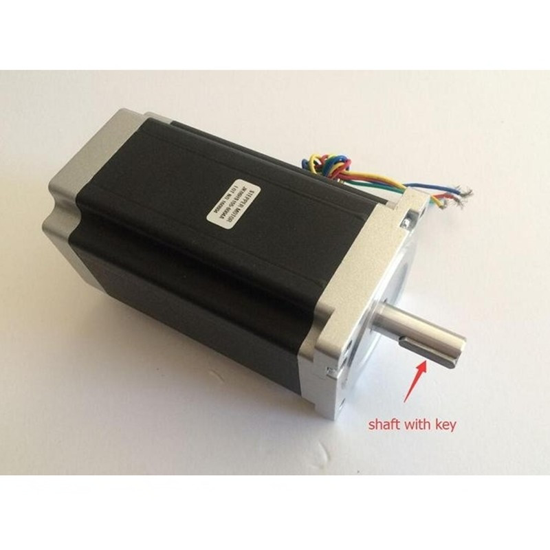 Nema34 Stepper Motor with key 86HS155 6004 single shaft 1840oz in(12N.m) 6A motor length 155mm CNC Engraving