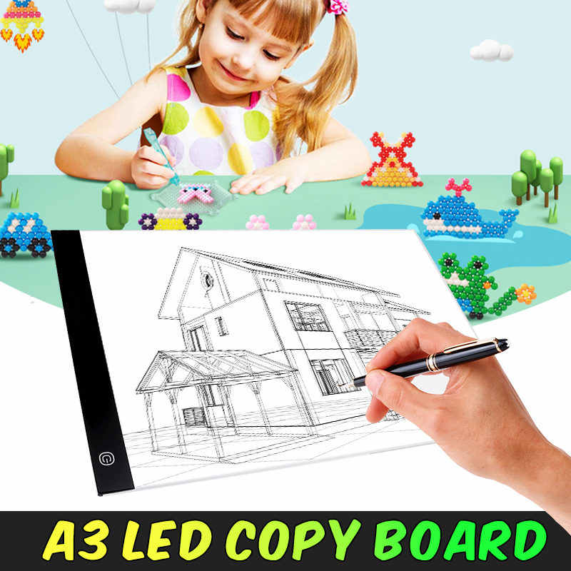 Светодиодный графический планшет, рисование, световой короб, распределительный щит, копировальные колодки, цифровой планшет для рисования Artcraft A3, копировальный стол, светодиодный планшет