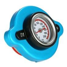 0.9BAR Thermostatic Radiator cover Blue Aluminum alloy 1pc Parts Accessories Replacement Cap Temperature Gauge