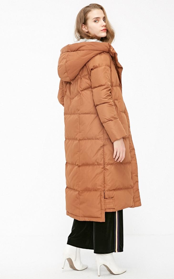 Vero Moda new detachable rabbit fur hooded long down jacket women | 318312503 27