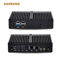 KANSUNG Mini Computer 2 Gigabit Ethernet Ports KN3150S J3160 Quad Core AES NI 6W ,6*USB X86 Small Fanless Firewall PC Router