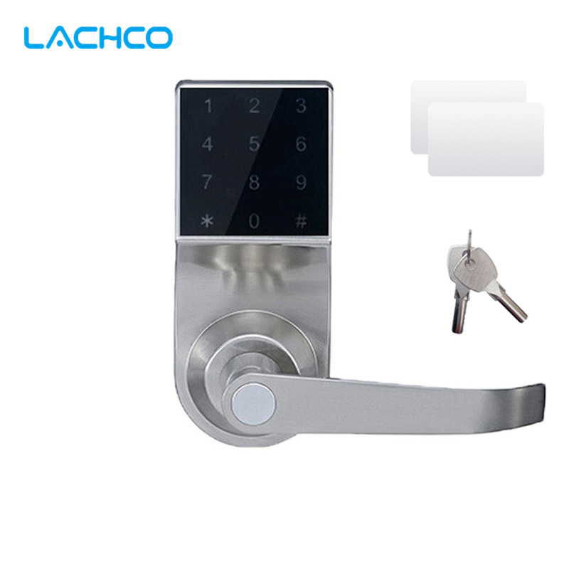 LACHCO Free Express Smart Electronic Door Lock Touch Screen Keypad Password, Code, Mechanical Key Spring Bolt Keyless SL18092S keyless digital lock keypad password code spring bolt access electronic door locks l