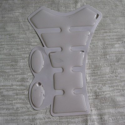 Free Shipping Motorcycle Carbon Fiber Resin Tank Pad Protector Ivory