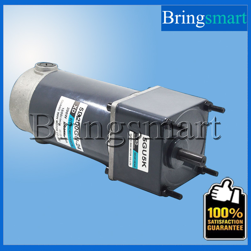 Bringsmart 200W DC Gear Motor 12V24V Gear Low-Speed Motor High Torque Micro-speed two-way small motor 12v24v dc gear motor 60w miniature high torque motor slow speed small motor
