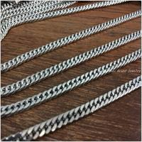 High Quality 5 10 Meter Fashion 316L Stainless Steel Silver Curb Cuban Chain Tone Mens Necklace