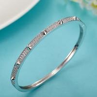 Wholesale Fashion Dubai Gold Bangle Jewelry Brand AAA Zircon Bangle For Women Wedding Bracelet Ethiopia Africa