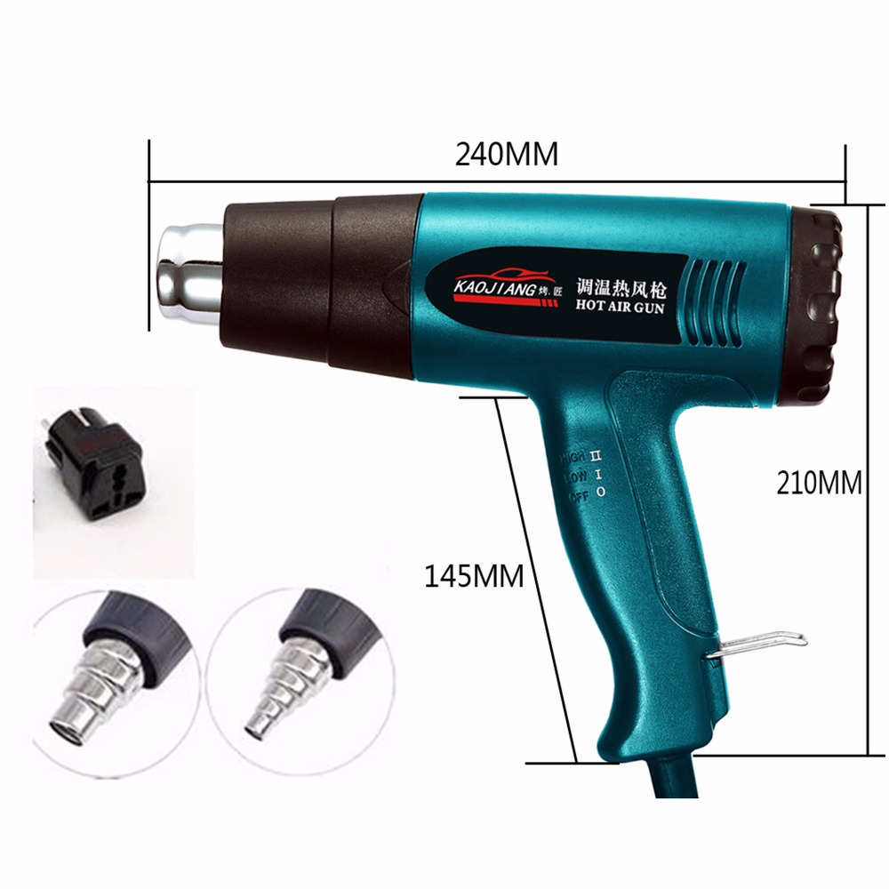 Portable induStrial blow Dryer Electric build tool thermal Hair technic gun conStruction hot air gun THERmostat TherMal BloWer-in Heat Guns from Tools