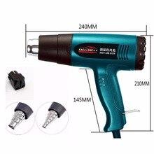 Przenośna przemysłowa suszarka nadmuchowa elektryczne narzędzie do budowy termiczna suszarka do włosów technic konstrukcja pistoletu gorąca wiatrówka termostat dmuchawa termiczna