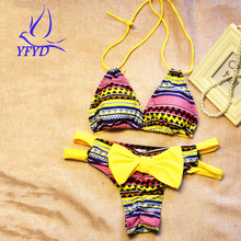 Special Offer New Style Bowknot Thong Bikini Set 2017 Brazilian Strappy Swimwear Female Sexy Women Swimsuit Beach Bathing Suit