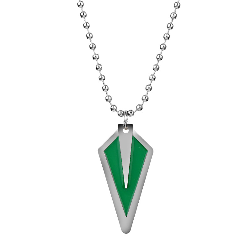 MQCHUN Movie Jewelry DC Comic Green Arrow Logo Oliver Queen Hero TV Pendant Necklace Fashion Cosplay Necklace-30