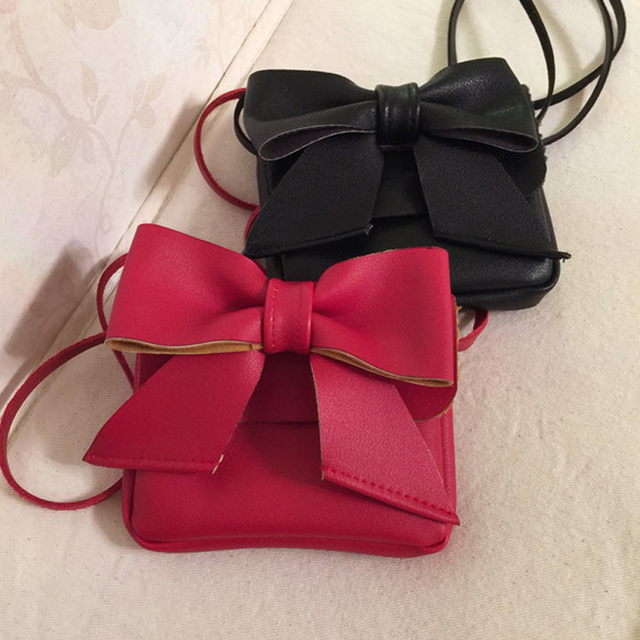Cute Kids Coin Purse Clutch Leather Bowknot S Crossbody Shoulder Bags Lovely Baby Toddler Purses And