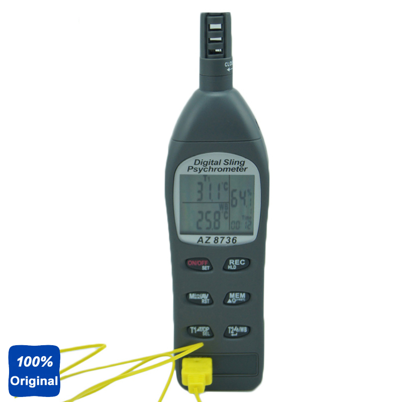 AZ-8736 Pocket Dew Point Meter Wet Bulb Temperature Humidity Tester ht 86 digital thermometer hygrometer wet bulb dew point temperature meter o0s0