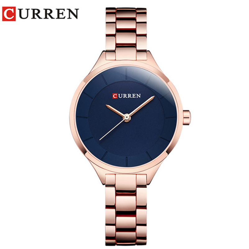 Curren 9015 Women Watches Luxury Rose Go