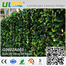 ULAND Artificial Plants Hedge Greenery Panels Plastic Fence Wall Cover for Wedding Garden Decoration Outdoor Indoor 50x50cm/pc