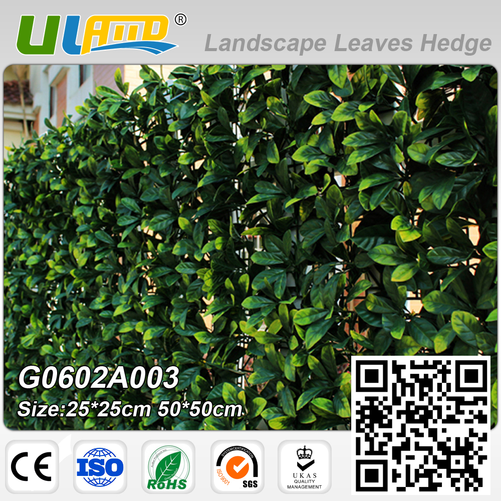 Garden wall ornaments - Uland Artificial Plants Hedge Greenery Panels Plastic Fence Wall Cover For Wedding Garden Decoration Outdoor Indoor 50x50cm Pc