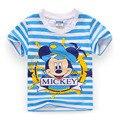 2016 Brand T Shirt Children Kids Baby Striped Cartoon T-Shirts Tops Baby Boy Cotton Tshirt Boys Tees Clothing Free Shipping