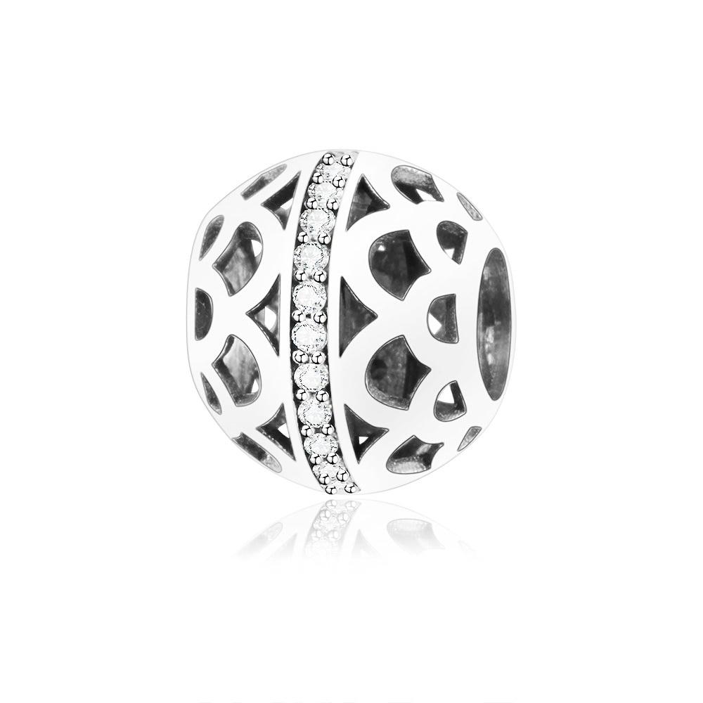 Fit Original Pandora Charm Bracelet 925 Sterling Silver Openwork Charm Beads With Zircon DIY Jewelry Making 2018 New Berloque
