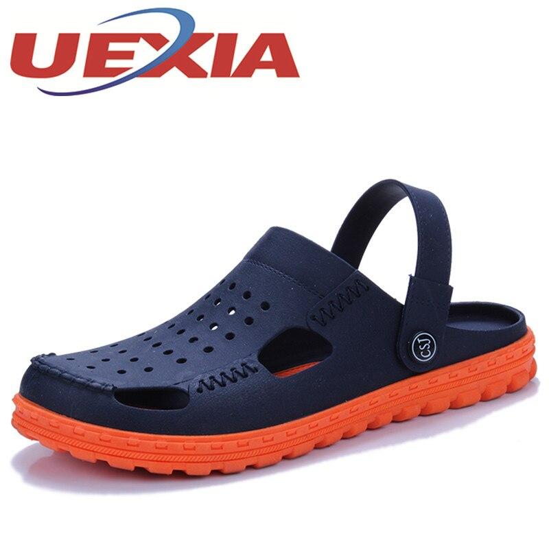 Summer Mens Clogs Beach Sandals For Men Garden Shoes Mule Clogs Fashion Candy Color Adult Mens Casual Sandalias Hombre EVA Shoes