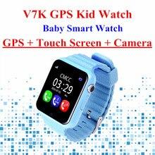 V7K teléfono Inteligente Bebé Niños Reloj GPS Pantalla Táctil con Cámara Smartwatch SOS Dispositivo de Localización de Seguimiento de Niños Seguros para niños reloj