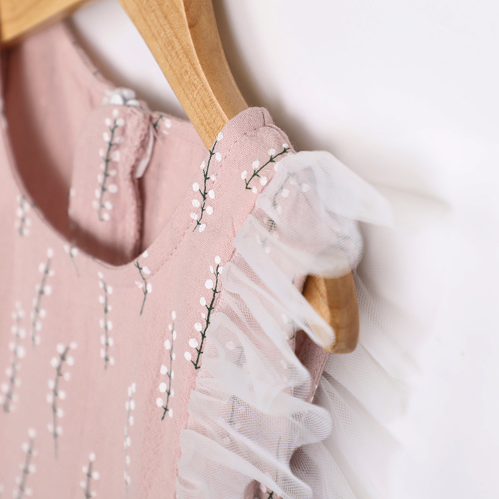 Summer Girl Dress Aonuosi Nowy produkt 2018 pink Party bowknot - Ubrania dziecięce - Zdjęcie 4