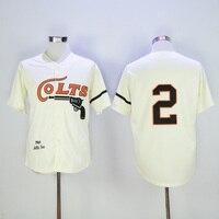 Mens retro 1964 Nellie Fox cosido nombre y número Houston Colts jersey de la vuelta del béisbol tamaño M-3XL
