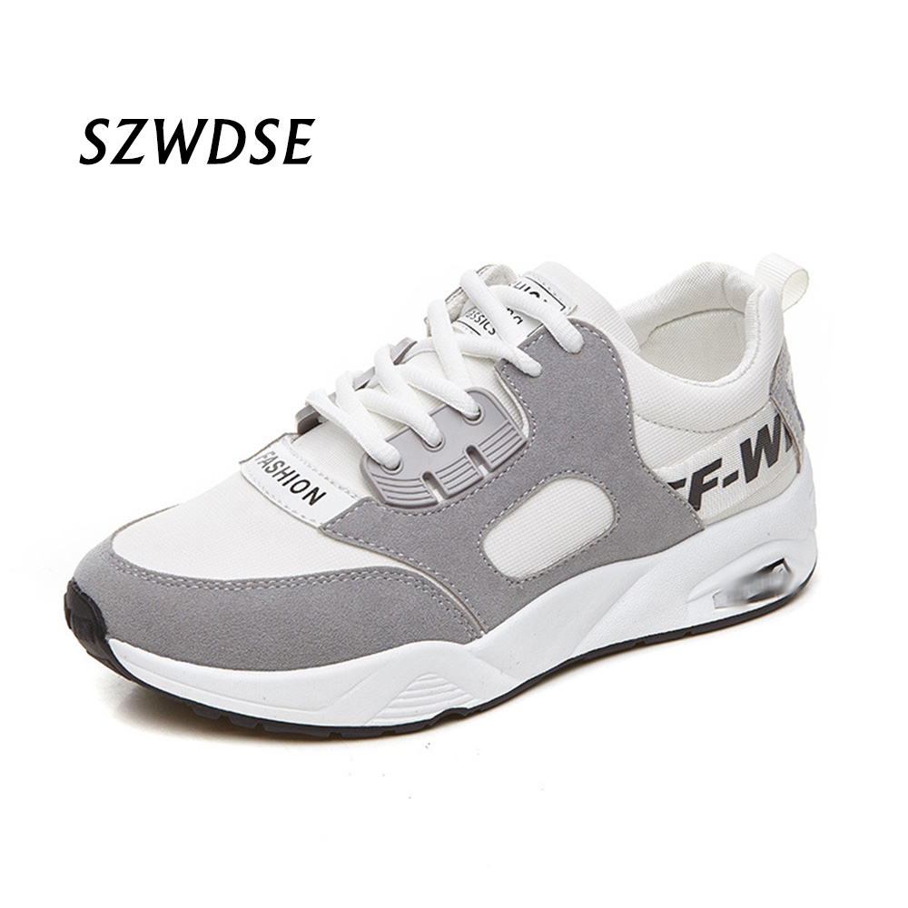Spring Band Lace-up White Pink Womens Sneakers Gym Sports Athlete Workout Forging Running Shoes Girl Harajuku Teens Flat Shoes
